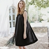 Jersey Overlap Dress - Black