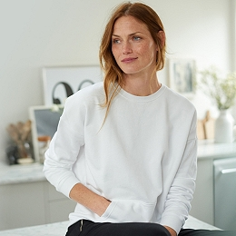 Cotton Jersey Oversized Sweatshirt
