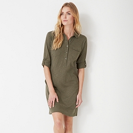 Jersey Shirt Dress - Clay