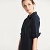 Jersey Shirt Dress - Navy