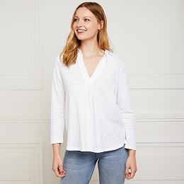 Cotton V-Neck Jersey Shirt