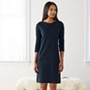 Jersey Pocket Shift Dress - Navy