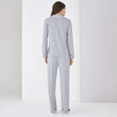 Jersey Striped PJ Set