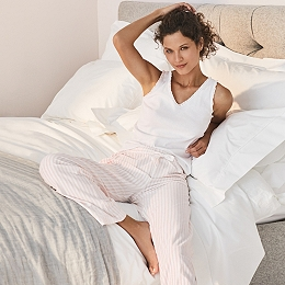 Cotton Jersey Stripe Pajama Bottoms