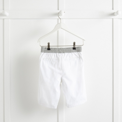 Jersey Waistband Shorts - White
