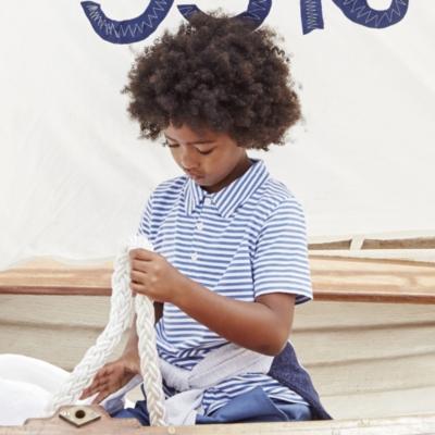Jersey Stripe Polo Shirt  (4-10yrs)