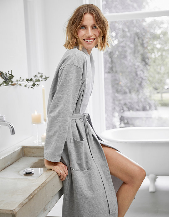 Jersey Double Faced Robe | Robes & Dressing Gowns | The White Company UK