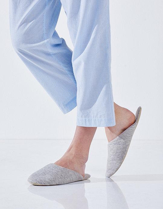 The White Company Jersey Travel Slippers uZLnH0UkHp