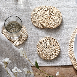 Jute Woven Coasters – Set of 4