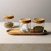 Pantry Glass Jars and Tray