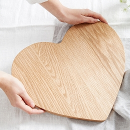 Wooden Oak Large Heart Board