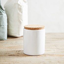 Stoneware Ceramic Small Jar with Cork Lid