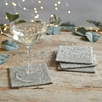 Glass Beaded Coasters - Set of 4