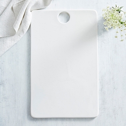 White Ceramic Serving Board – Large