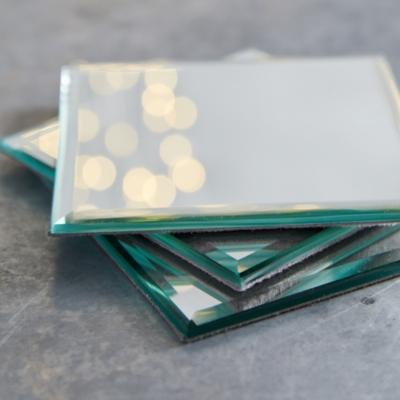 Square Mirror Coasters – Set of 4