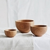 Wooden Nesting Bowls - Set of 3