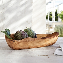 Olive Wood Oval Bowl