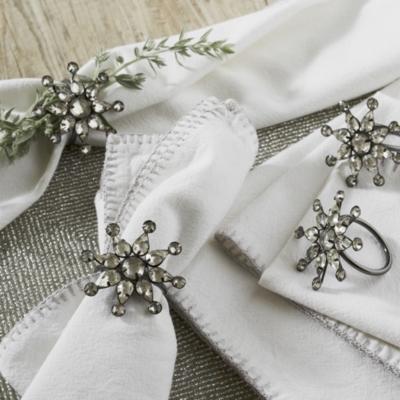 Snowflake Pendant Napkin Rings – Set of 4