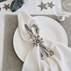 Snowflake Pendant Napkin Rings – Set of 4