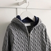 Knitted Cable Zip Cardigan