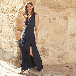 Knot Front Split Maxi Dress