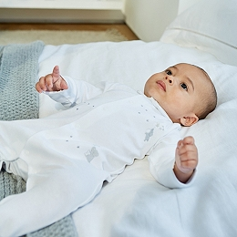 Kimbo Embroidered Sleepsuit