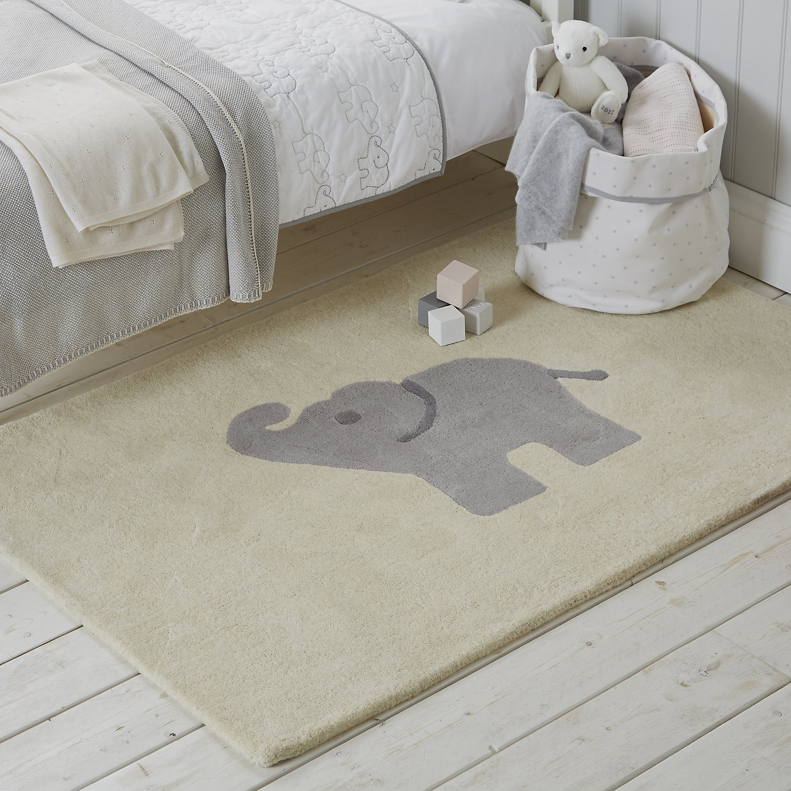 Elephant Rug For Nursery