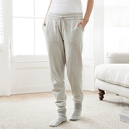 Knitted Joggers - Pale Gray Marl