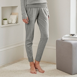 Knitted Joggers  - Mid Gray Marl