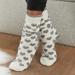 Knitted Heart Socks