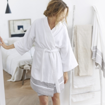 Luxury Light Terry Kimono Robe