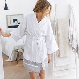 Luxury Light Terry Kimono Robe