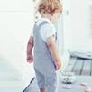 Short Leg Stripe Dungarees