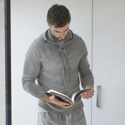 Knitted Hoodie with Draw Cord
