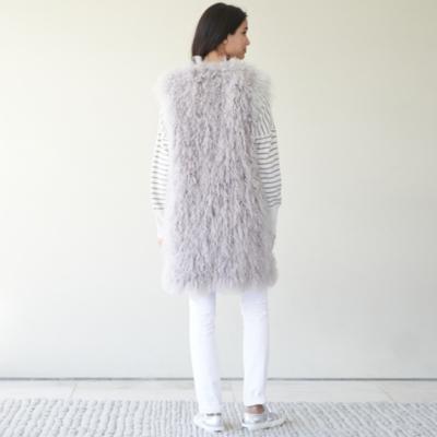 Knitted Sheepskin Gilet