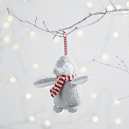 Snowy Penguin Christmas Decoration