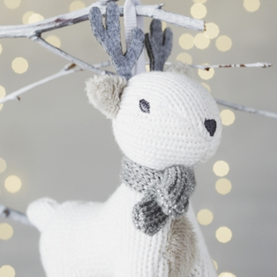 Knitted Stag Christmas Decoration