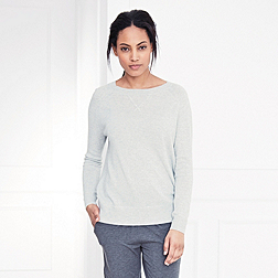 Knitted Jumper - Silver Grey Marl