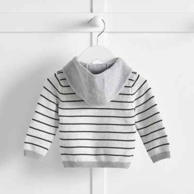 Striped Knitted Hoodie