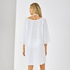 Lace Trim Cotton Voile Cover-Up