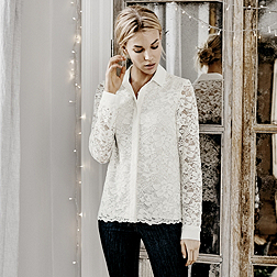 Lace Blouse - Ivory
