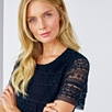 Lace Blouse - Navy