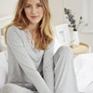 Lace Trim Pajama Bottoms