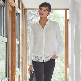 Lace Hem Shirt