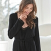 Lace Jersey Robe