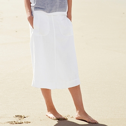 linen a line skirt the white company uk
