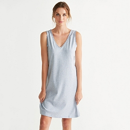 Lace Trim Sleeveless Nightgown