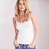 Lace Trim Cami - White