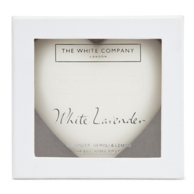 White Lavender Heart Soap