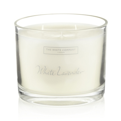 White Lavender Large Candle
